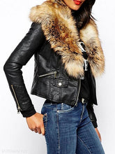 Fabulous Fur Collar With Flap Pockets Jacket