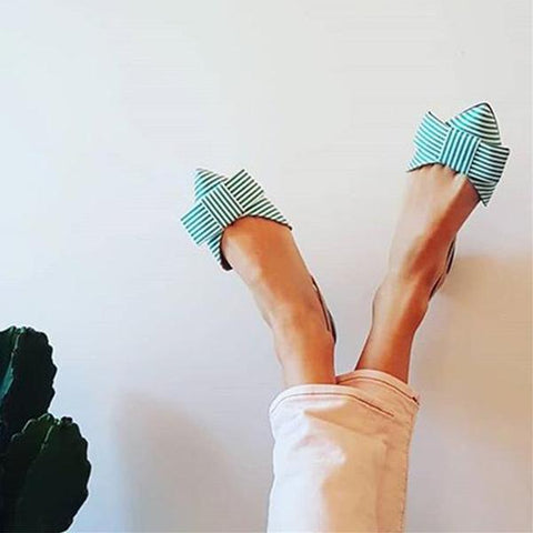 Flat Simple Sexy Bow Wild Sandals