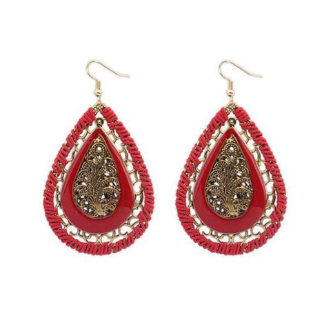 Bohemian Style Glass Earrings For