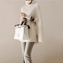 Cowl Neck  Striped  Cape Sleeve  Half Sleeve Pullover