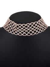 Luxury High Quality Wide Rhinestone Choker Necklace
