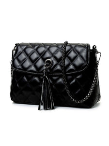 Quilted Tassel High Quality Chain Crossbody Bag