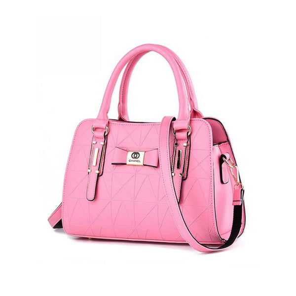 Geometric Embossed Bowknot Pu Shoulder Bag