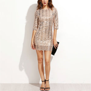 Sexy Fish Scale Sequined Evening Dress