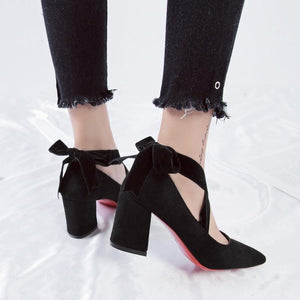 Lovely Bow-Knot Pointed Toe Shoes