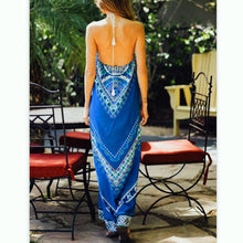 Bohemian Printed Sleeveless Vacation Dress