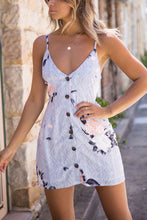 Fashion Sleeveless Floral Print Mini Dress