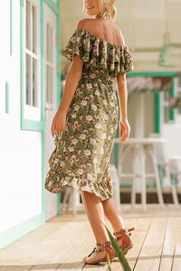 Fashion Floral Print Vacation Maxi Dress
