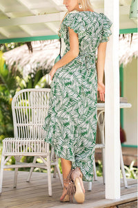 Casual Floral Print Vacation Maxi Dress