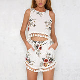 Random Floral Print Playsuit Rompers Suit