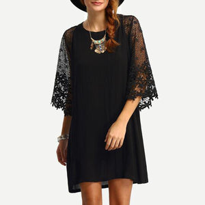 Sexy Fashion Lace Splicing Mini Dress