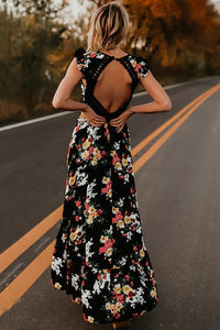 Fashion Sexy Floral Print Vacation Maxi Dress