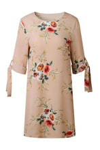 Round Neck  Floral Printed  Half Sleeve Casual Dresses