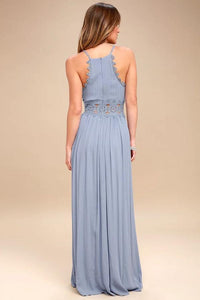 Elegant Sexy Deep V Sleeveless Maxi Dress