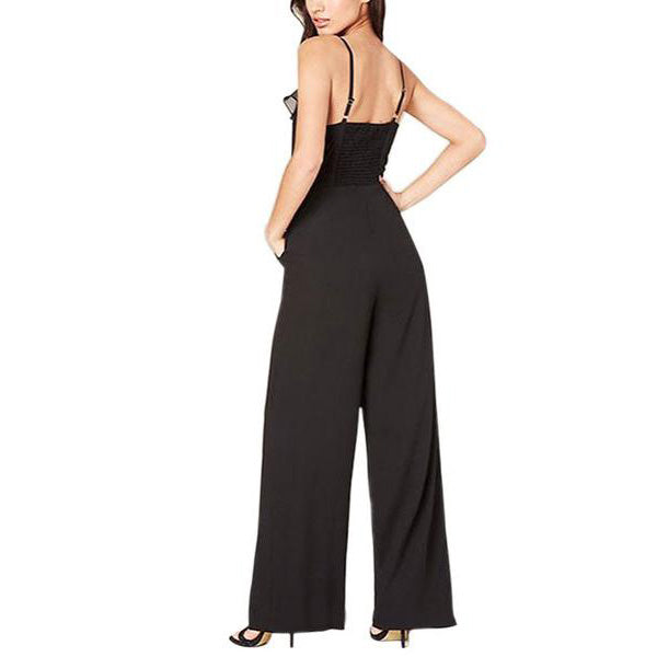 Fashion Deep V Collar Halter Jumpsuit