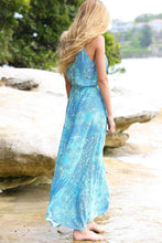 Fashion Beach Floral Print Vacation Maxi Dress