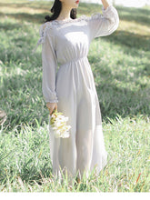 Fashion Off Shoulder Blinding Chiffon Maxi Dress