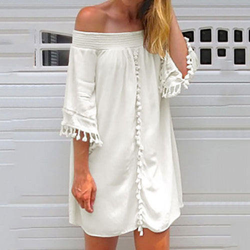 Sexy Fashion Off Shoulder Mini Dress