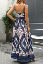 Sexy Floral Print Vacation Maxi Dress