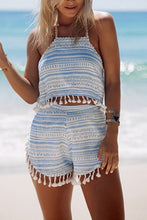 Fashion Tassel Sleeveless Two-Piece Rompers