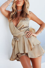 Fashion Deep V Sleeveless Irregular Rompers