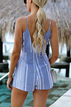 Fashion Sleeveless Stripe Rompers