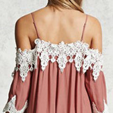 Lace Patchwork Spaghetti Straps Vacation Dress