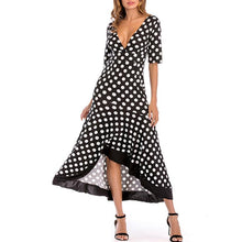 Deep V-Neck Half Sleeve Maxi Dresses