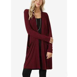 Fashion Simple Jacket Long Sleeve Cardigan