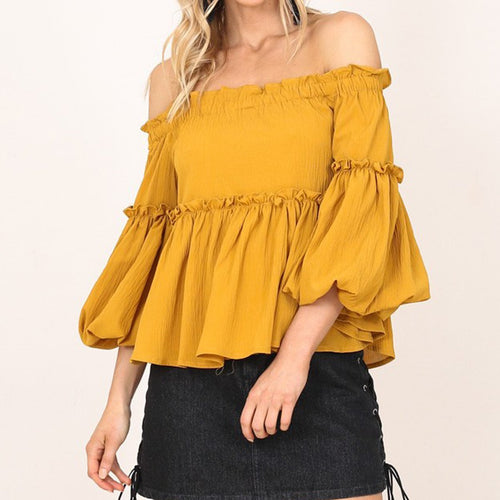 Solid Color One Shoulder Cropped Sleeve T-Shirts