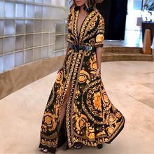 Early Autumn Vintage Printed  Fashionable Maxi  Dress