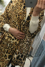 Casual Fashion Leopard Print Rectangle Cape Scarf