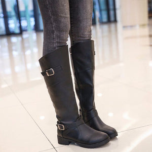 Fashion Belt Buckle Over The Knee Boots