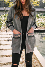 Chic Casual Vacation Loose Strip Long Sleeve Cardigan
