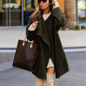 Fashion Temperament Pure Color Long-Sleeved Sweater