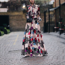 Fashion Elegant Floral Print Maxi Dress