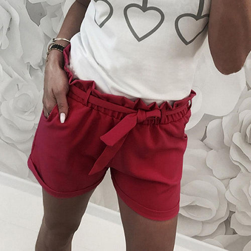 Casual Sexy High Waist   Slim Show Thin Frenulum Shorts Pants