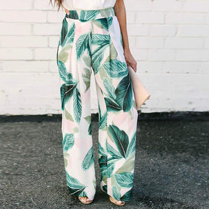 Sexy Printed High-Waisted Wide-Leg Pants