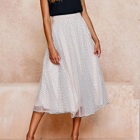Fashionable Sexy Wave Point Hight Waist Skirt