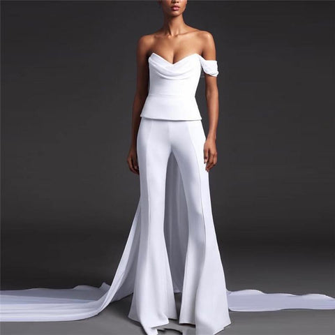 Fashionable Sleeveless Pure Color Irregular Jumpsuits
