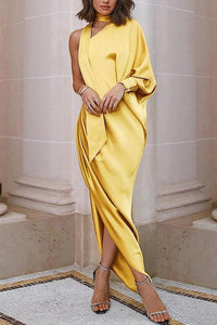 Elegant One-Shoulder Bodycon Dress Maxi Dress Evening Dress