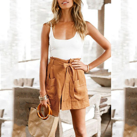 Sexy Sleeveless Splicing Vacation Romper