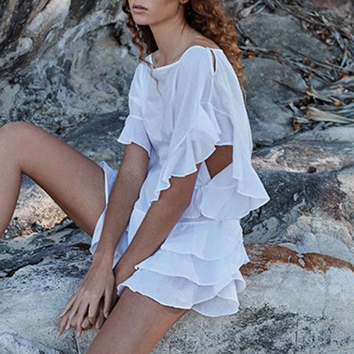 White Bikini Cover Ups Vacation Dress