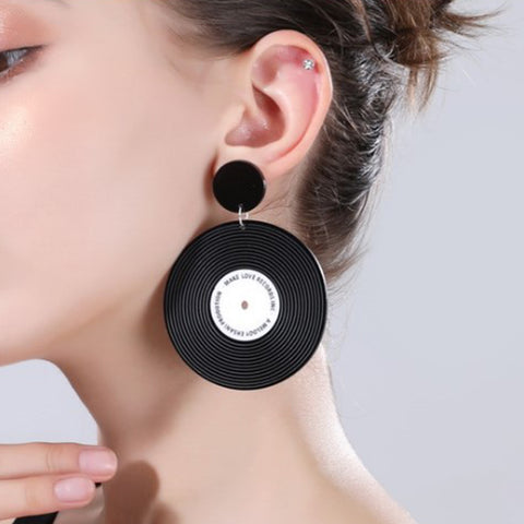 Personality Vintage Vinyl Record Earrings