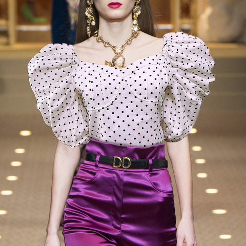 Fashion Polka Dot Printed Blouse