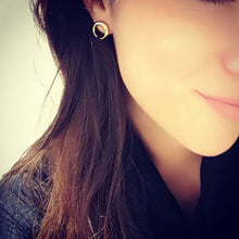 Fashion Moon Arc Alloy Surface Earring