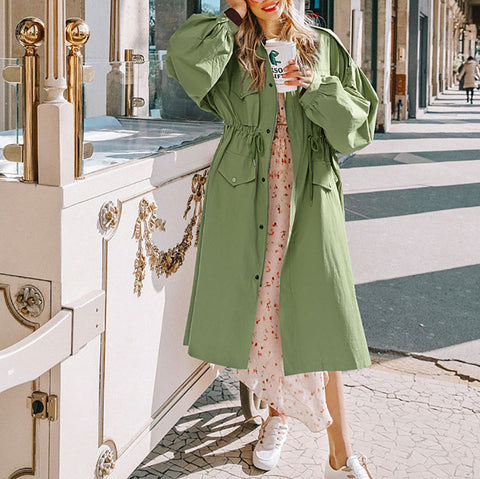 Loose Fashion Long Trench Coat