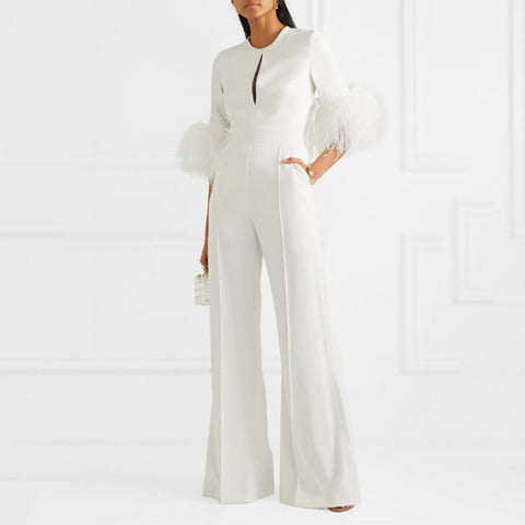 Fashion Personality Solid Color Jumpsuit