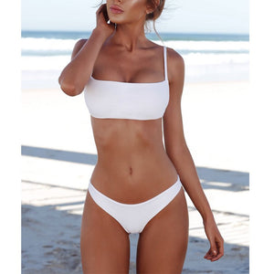 2018 Fashion Sexy Straps Bikini Set Swimwear