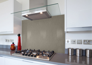Custom stainless steel splash back
